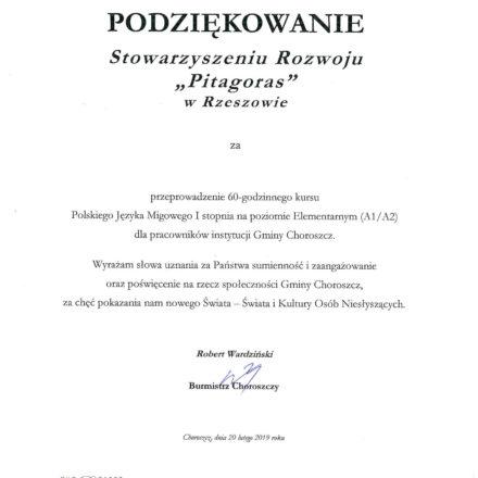 Burmistrz Choroszczy